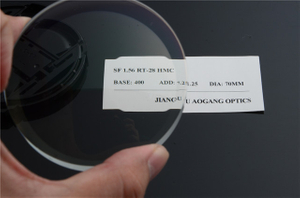 1.56 Round-top AR Coating Semi Finished Lens Blanks In Multi Purpose Lens