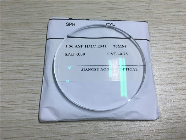1.56 Aspherical Cr39 Single Vision Lenses AR Coating NK55 Material