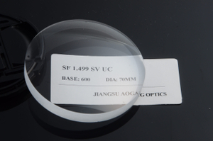 CR39 1.499 Uncoated Optical Blanks Single Vision 58 Abbe Value PPG Material