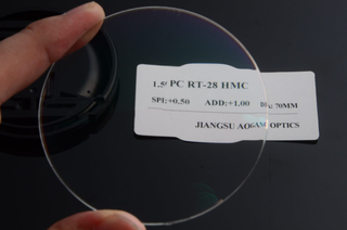 Made in China 1.59 PC polycarbonate round top bifocal HMC optical lens