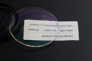 1.56 photochromic film progressive blue cut HMC AR optical lens wholesale price