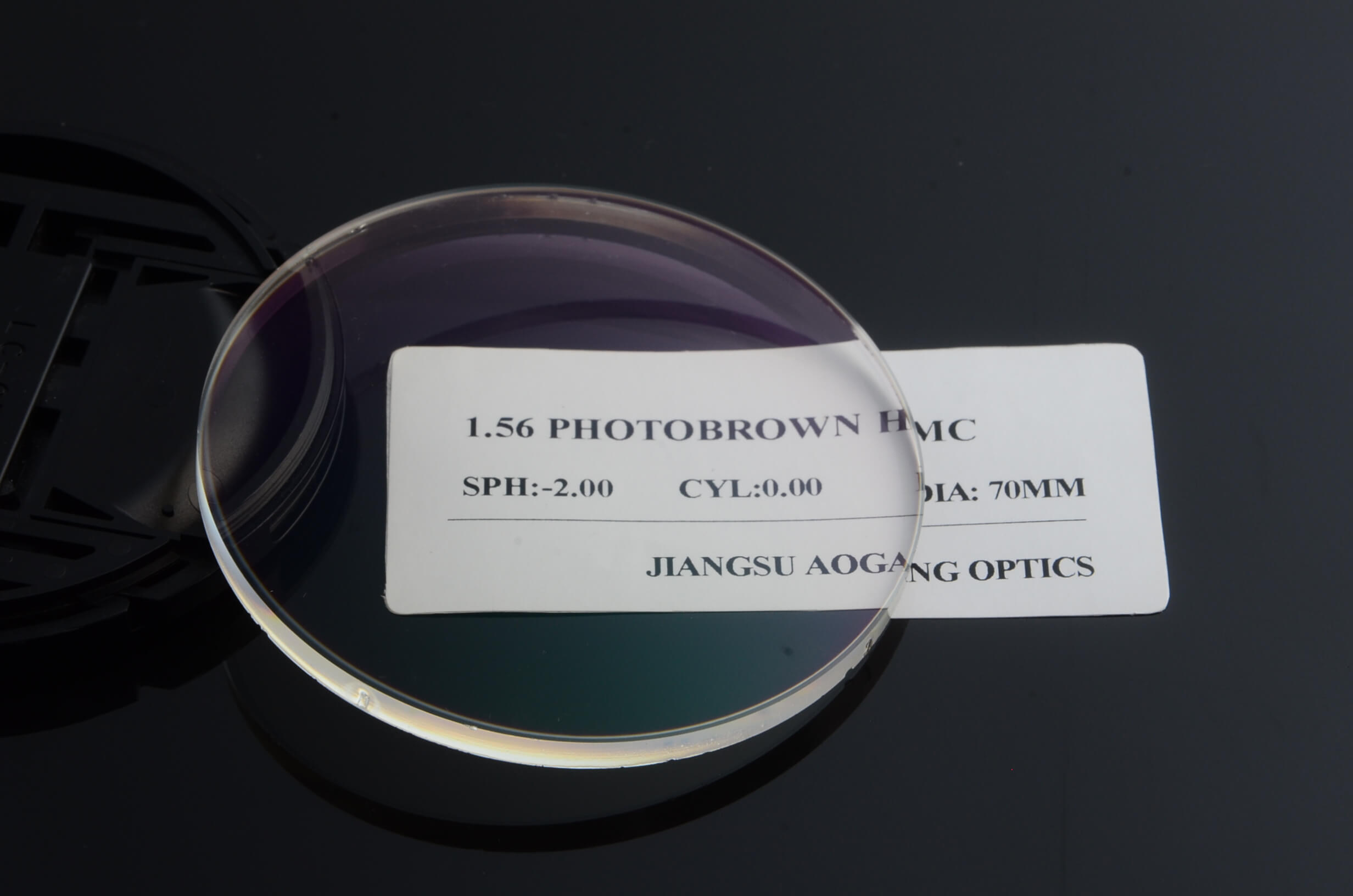 Index 1.56 photochromic photo grey HMC AR transition ophthalmic lens optical prescription anti reflection