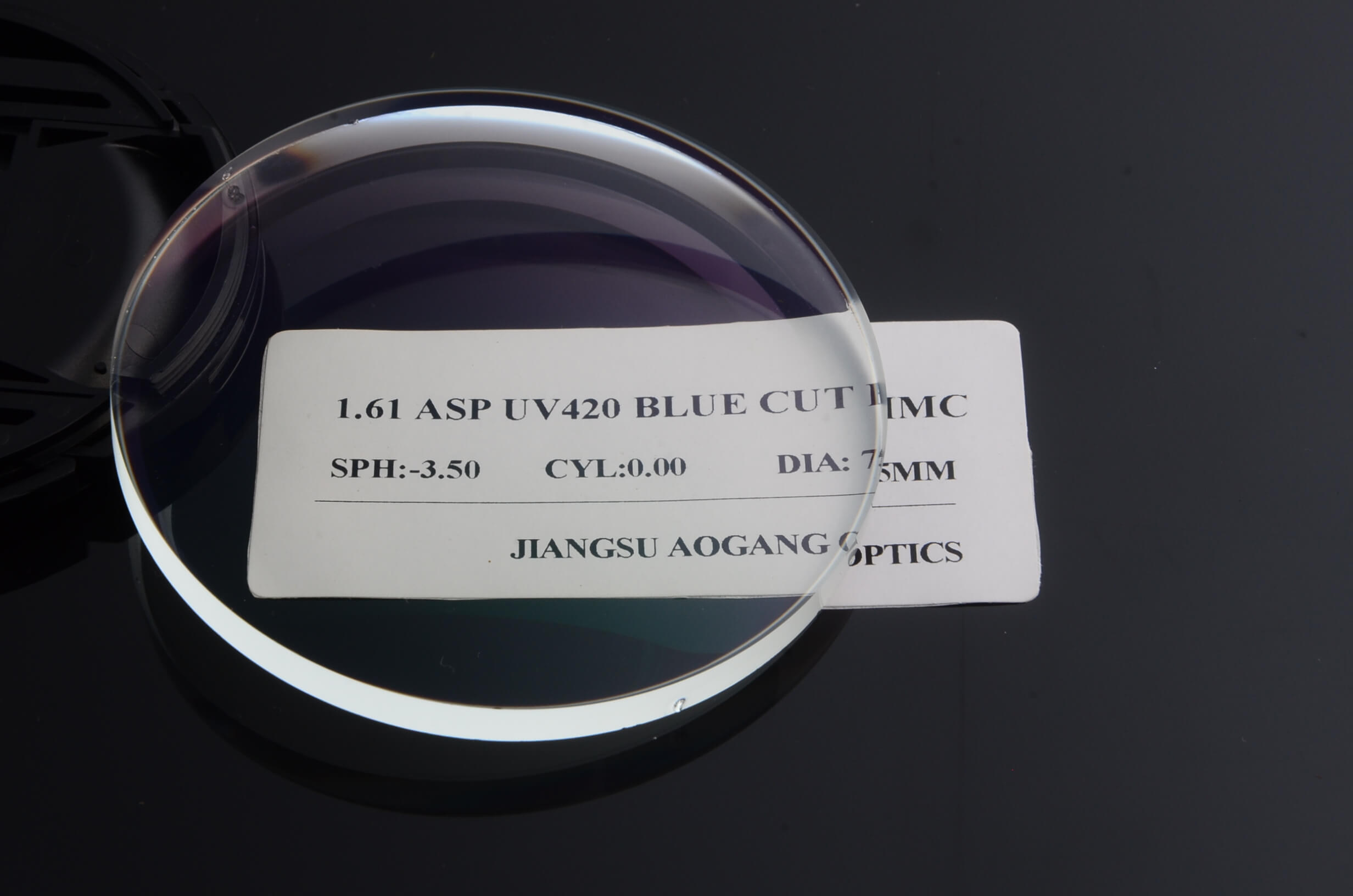 Semi Finished Blue Cut Lense Blanks For UV420 Protection 1.60 Index