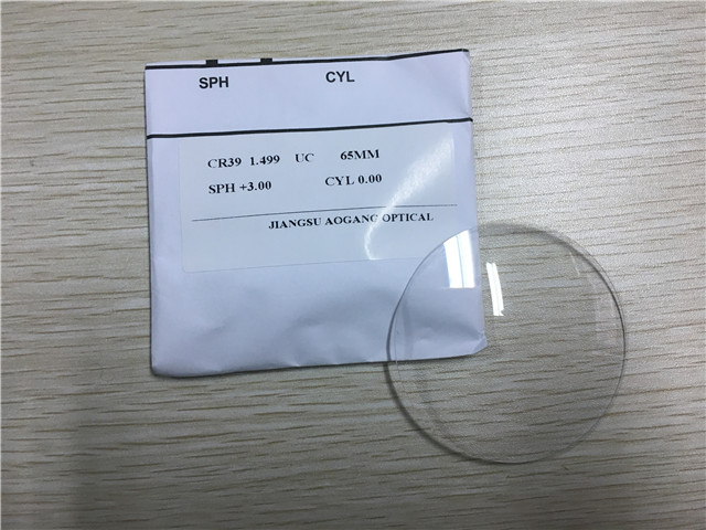 CR39 Custom Prescription Lenses Without Coating 1.499 Refractive Index