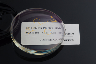 SF 1.56 Photochromic Progressive HMC Semi Finished Lens Blanks For Far And Near Vision And Outdoor Activites