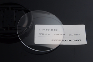 White 1.499 Index Flat Top Bifocal Lenses Without Coating CR39 Material