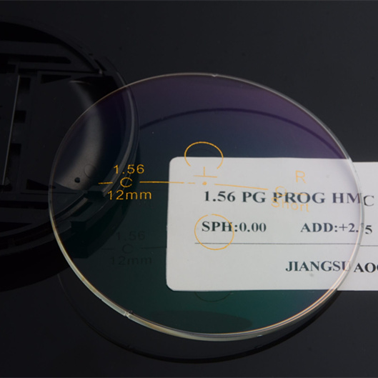 Danyang Manufacturer 1.56 photochromic progressive with HMC AR prescription lens optical lens